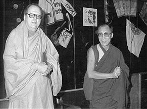 Agehananda Bharati with H.H. the Dalai Lama