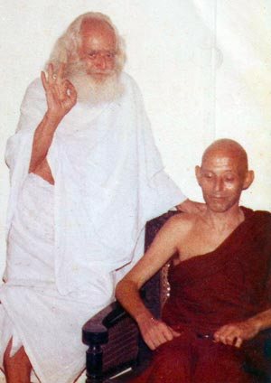 Ven. Sumedha with friend German Swami Gauribala