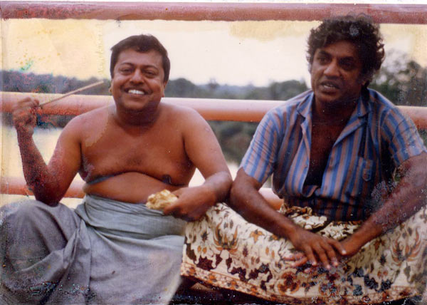 Manik Sandrasagra shares a toke with friend Topi in 1987